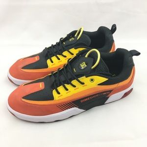 DC X Dime S Legacy Yellow Orange Shoes Mens Sz 13